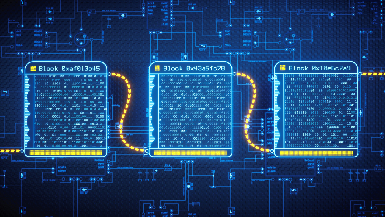 Blockchain Technology Concept Simple