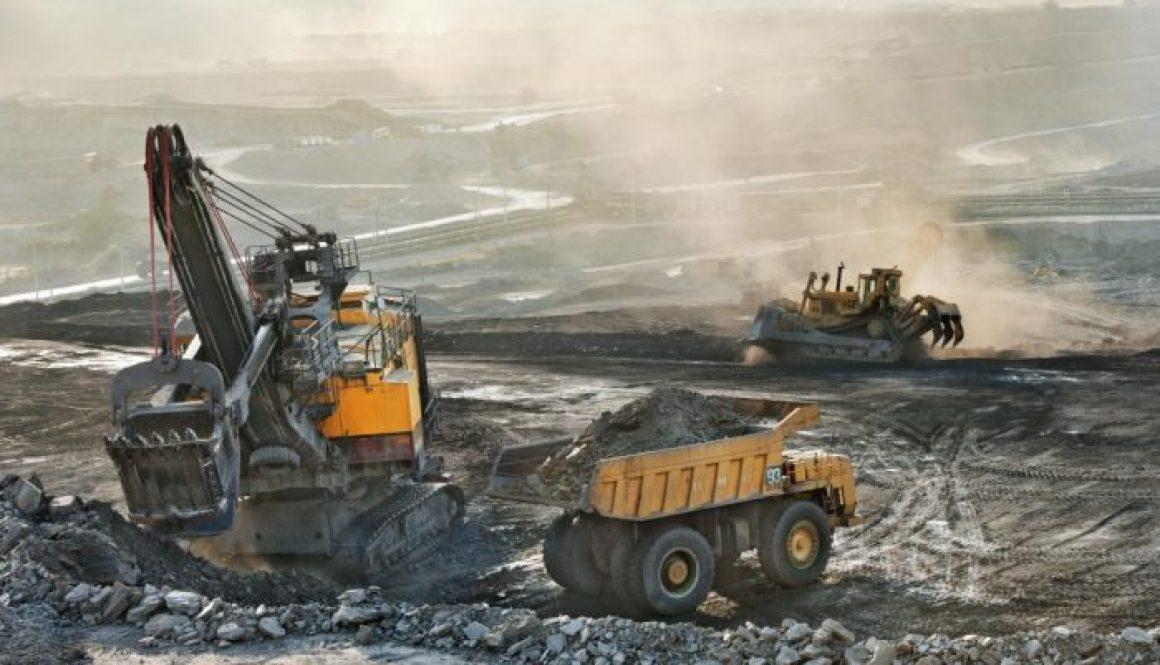 Old machine in coal mine
