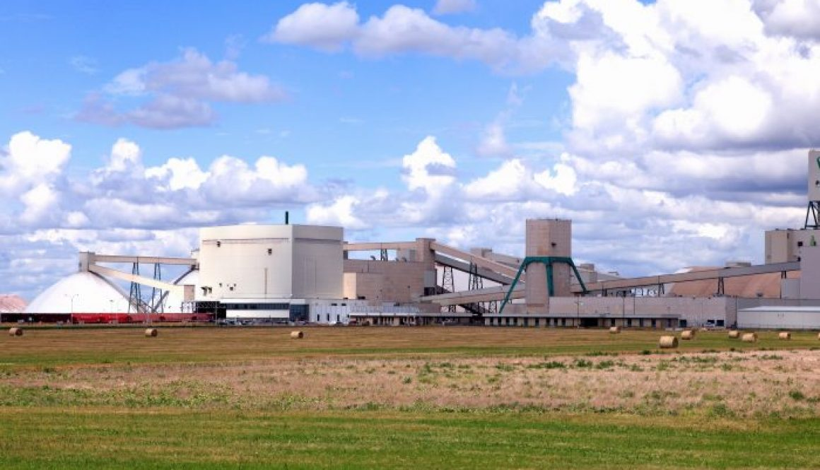 Larage Potash Plant On The Canadian Prairie