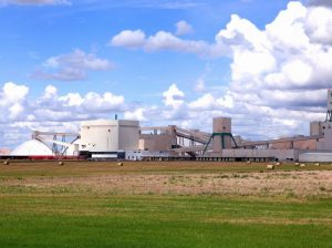 Larage Potash Plant On The Canadian Prairie